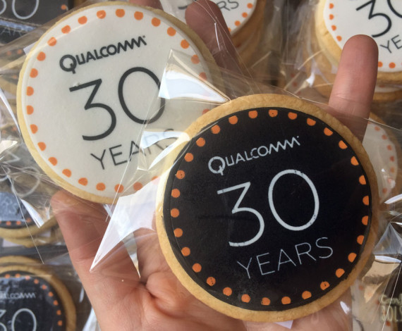 Galletas 30º Aniversario Qualcomm