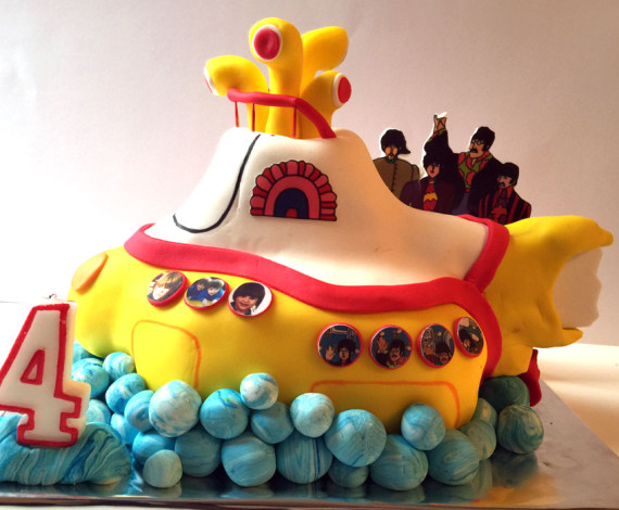 Tarta Yellow Submarine The Beatles