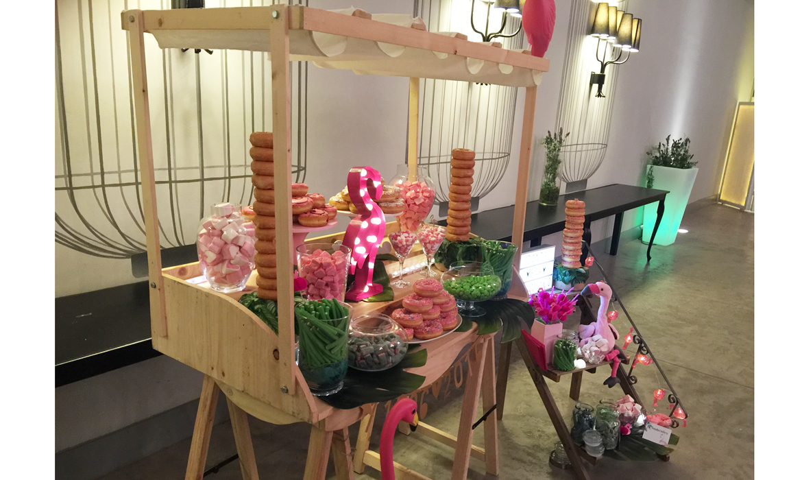 Candy bar boda Flamingo