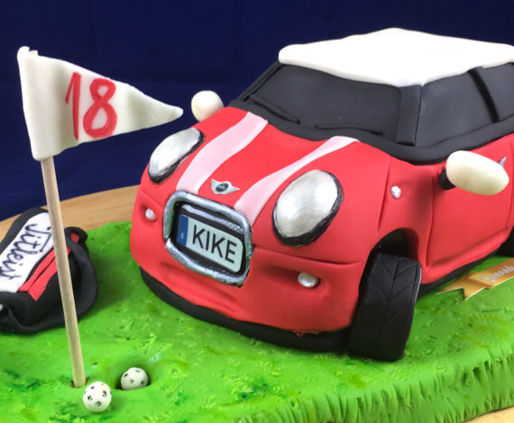 Tarta coche Mini campo golf