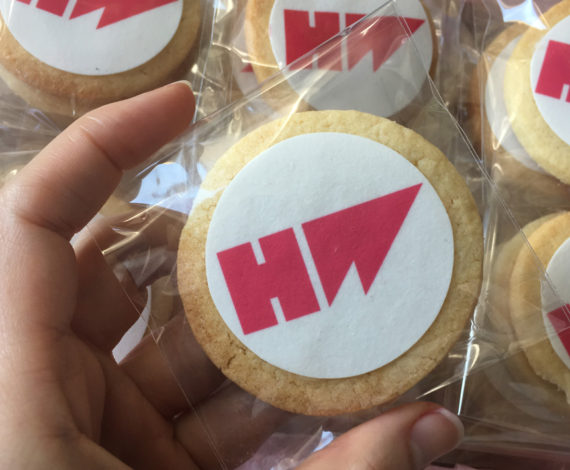 Galletas corporativas para empresa Hotwire
