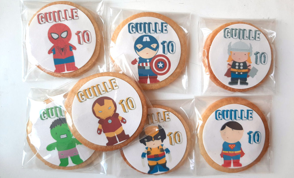 Galletas superhéroes para Guille 10