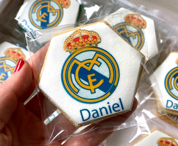 Galletas hexagonales del Real Madrid